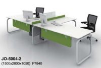 modern office workstation with cabinet, office partition