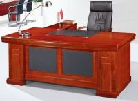 office table, MDF with veneer laminated painted executive table