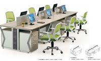 modern 6 seater workstation open plan system office furniture factory