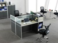 new design two seater modular workstation with file cabinet