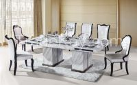 rectangle 8 person marble dining table #T3033