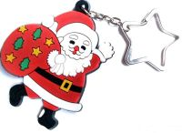 Santa Claus PVC soft rubber key chain