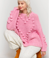 Women Pink Sweater
