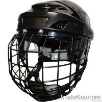 Ice hockey helmets with cage/combo