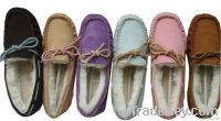 100% Australia merino sheepskin moccasin sheepskin slippers shoes