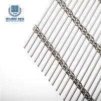 Woven type stainless steel cabinet door decorative metal mesh