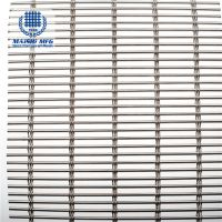 Customized design stainless steel fine slot woven mesh for decoration