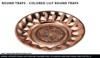 Colored Lily Round Trays