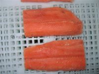 Pink salmon fillets, portions, blocks