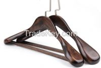 Wholesale high quality durable wood hanger / wood color hanger
