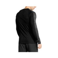 custom Bodybuilding Muscle athletic sports men gym workout fitness long sleeve t shirts straight hem line slim fit Cross