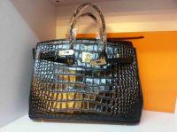 2014 new trend classic design in crocodile gunuine leather women handbag