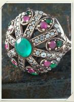 Turkish Silver Jewelry Ring Hydro Emerald Harim Al Sultan Grand Bazaar Jewellery Jewelers