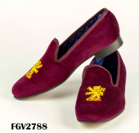 Mens velvet slippers