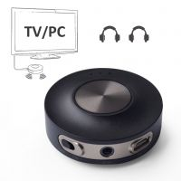aptX LOW LATENCY Bluetooth Transmitter for TV PC, Dual Link Wireless Audio Adapter for Headphones, Bluetooth 4.2