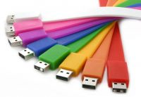 Rainbow Color Custom USB Wrist Band Flash Memory Drive Disk 2.0
