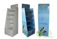 High Quality Custom Floor Cardboard Paper Display Stand for Chips