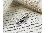silver dolphin pendant, sterling silver necklace, fashion jewely