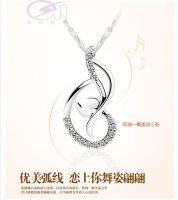 silver pendants, silver plated platinum