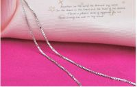 silver necklace,silver chain