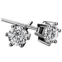 sell  silver earrings, zircon crystal jewelry