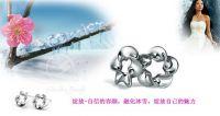 silver earrings , stud earrings