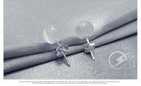 stud earrings, 925 sterling opal earrings