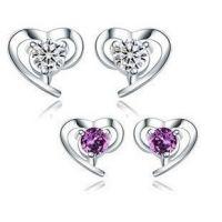 fashion stud earrings, silver jewelry