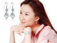 fashion earrings  silver earrings drop