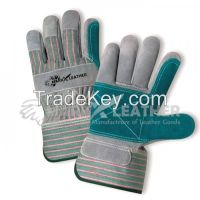 Industrial Leather Working Gloves Safety Glove with Double Palm