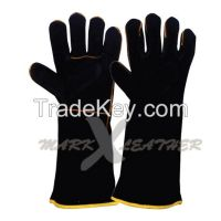 Split Cowhide Leather Welding Gloves Welted fingers