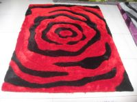 shaggy rug and chinese knotted rug