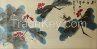 Chinese Painting and Calligraphy-Flowers Gift  Presents Art of Works Folk arts