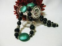 Gorgeous Emerald Green Hand Beaded Necklace