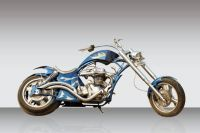 Custom motorcycle chopper