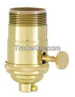 Turned Brass Lamp Sockets