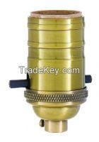Turned Brass Lamp Sockets