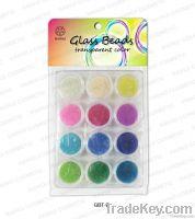 Nail glass beads transparent