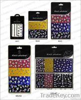 Nail 3 D stickers  Black GEM