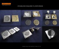 square floor drain with anti-smell siphon