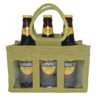 3 Jar jute bag with PVC window