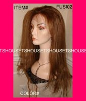 100% Human Virgin Brazilian, Indian Remy Full Lace or front lace wig