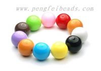 solid color acrylic beads