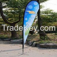 heat transfer print feather flag with any size(teardrop banner and bowhead banner)