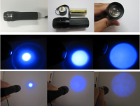 Zoom UV LED Flashlight