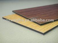 Wooden design for funiture aluminium composite panel