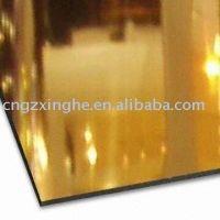 mirror aluminium composite panel wall cladding