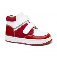 1716265 Red Blue kids orthopedic shoes arch support kids leather boot skateboard sneaker
