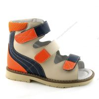4811357 Kids Leather Orthopedic shoes Children Classic Corrective sandal with arch support and thomas heel