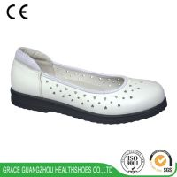 White Women diabetic Leather sandals Wide Deep Comfortable Medical Shoes